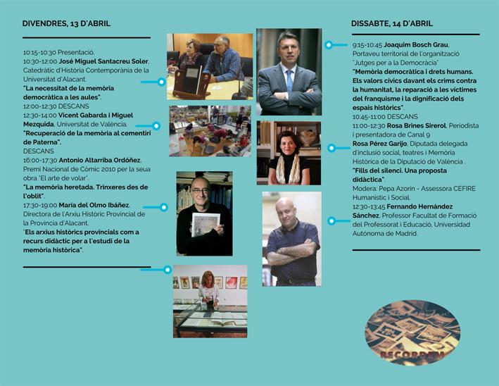 Jornades eines per al treball de la mem ria democr tica a les aules valencianes castell d 39 alaqu s - Trabajo en alaquas ...